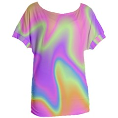 Holographic Design Women s Oversized Tee