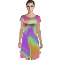 Holographic Design Cap Sleeve Nightdress