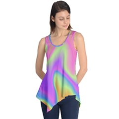 Holographic Design Sleeveless Tunic