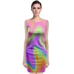 Holographic Design Classic Sleeveless Midi Dress