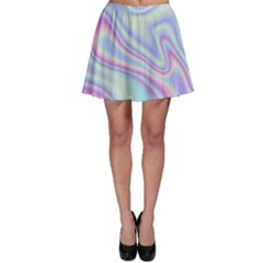 Holographic Design Skater Skirt