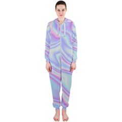 Holographic Design Hooded Jumpsuit (ladies)
