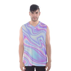 Holographic Design Men s Basketball Tank Top