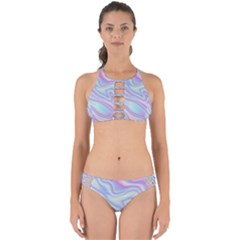 Holographic Design Perfectly Cut Out Bikini Set