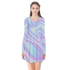 Holographic Design Flare Dress