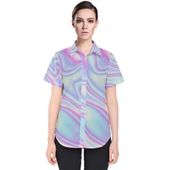 Holographic Design Women s Short Sleeve Shirt