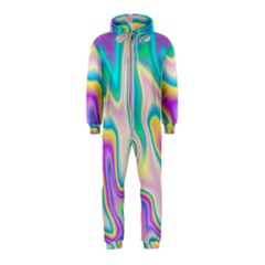 Holographic Design Hooded Jumpsuit (kids)