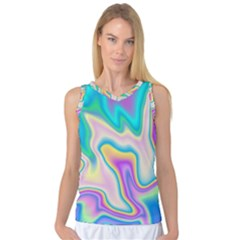 Holographic Design Women s Basketball Tank Top