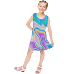 Holographic Design Kids  Tunic Dress