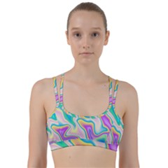 Holographic Design Line Them Up Sports Bra