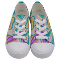 Holographic Design Kids  Low Top Canvas Sneakers