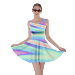 Holographic Design Skater Dress