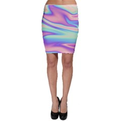 Holographic Design Bodycon Skirt