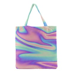 Holographic Design Grocery Tote Bag by tarastyle
