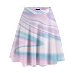 Holographic Design High Waist Skirt by tarastyle
