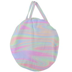 Holographic Design Giant Round Zipper Tote