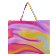 Holographic Design Zipper Large Tote Bag by tarastyle