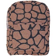 Skin1 Black Marble & Brown Denim (r) Full Print Backpack by trendistuff