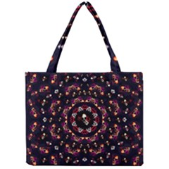 Floral Skulls In The Darkest Environment Mini Tote Bag by pepitasart