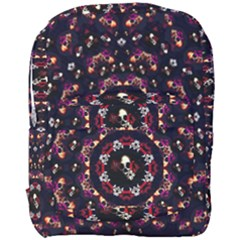 Floral Skulls In The Darkest Environment Full Print Backpack by pepitasart