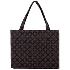 Circles3 Black Marble & Dark Brown Wood Mini Tote Bag by trendistuff