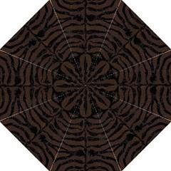 Skin2 Black Marble & Dark Brown Wood Straight Umbrellas by trendistuff