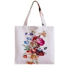 Fleur Vintage Floral Painting Grocery Tote Bag by Celenk