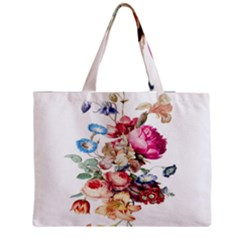 Fleur Vintage Floral Painting Medium Tote Bag by Celenk