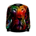 neon lion womens sweater - Women s Sweatshirt