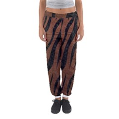 Skin3 Black Marble & Dull Brown Leather Women s Jogger Sweatpants by trendistuff