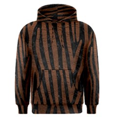 Skin4 Black Marble & Dull Brown Leather Men s Pullover Hoodie