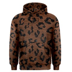 Skin5 Black Marble & Dull Brown Leather (r) Men s Pullover Hoodie