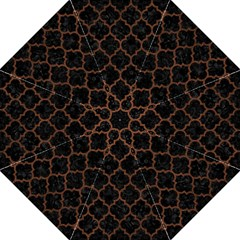 Tile1 Black Marble & Dull Brown Leather (r) Straight Umbrellas by trendistuff