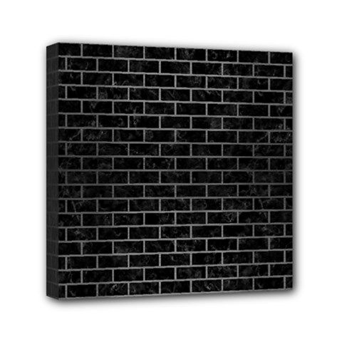 Brick1 Black Marble & Gray Brushed Metal (r) Mini Canvas 6  X 6  by trendistuff