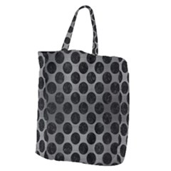 Circles2 Black Marble & Gray Brushed Metal Giant Grocery Zipper Tote by trendistuff