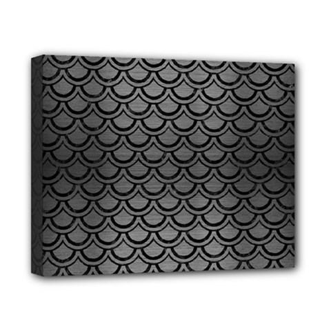 Scales2 Black Marble & Gray Brushed Metal Canvas 10  X 8  by trendistuff