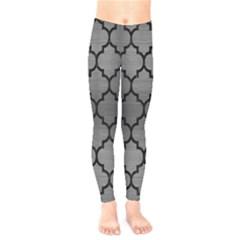 Tile1 Black Marble & Gray Brushed Metal Kids  Legging by trendistuff