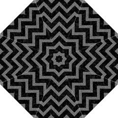 Chevron9 Black Marble & Gray Denim (r) Golf Umbrellas by trendistuff