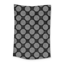 Circles2 Black Marble & Gray Denim (r) Small Tapestry by trendistuff