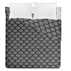 Scales1 Black Marble & Gray Denim Duvet Cover Double Side (queen Size) by trendistuff