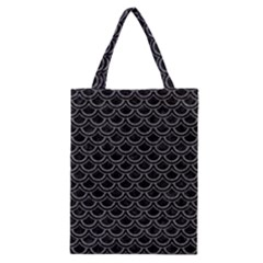 Scales2 Black Marble & Gray Denim (r) Classic Tote Bag