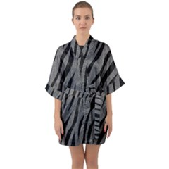 Skin3 Black Marble & Gray Denim Quarter Sleeve Kimono Robe
