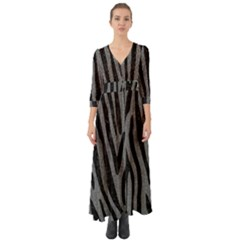 Skin4 Black Marble & Gray Denim (r) Button Up Boho Maxi Dress