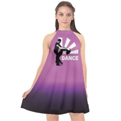 Dance Halter Neckline Chiffon Dress