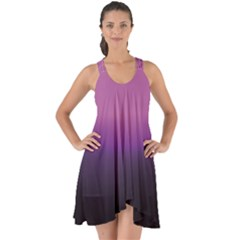 Purple Fog Show Some Back Chiffon Dress