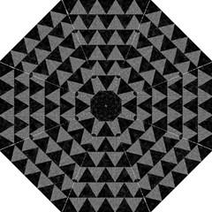 Triangle2 Black Marble & Gray Denim Straight Umbrellas by trendistuff
