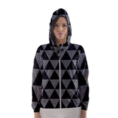 Triangle3 Black Marble & Gray Denim Hooded Wind Breaker (women)