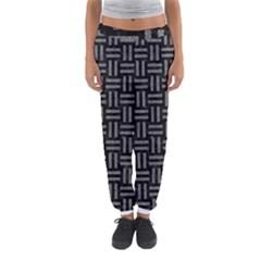 Woven1 Black Marble & Gray Denim (r) Women s Jogger Sweatpants by trendistuff