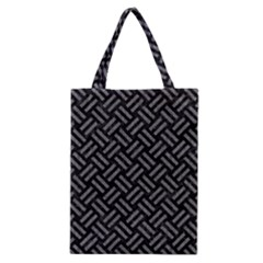 Woven2 Black Marble & Gray Denim (r) Classic Tote Bag by trendistuff