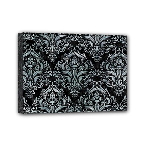 Damask1 Black Marble & Ice Crystals (r) Mini Canvas 7  X 5  by trendistuff